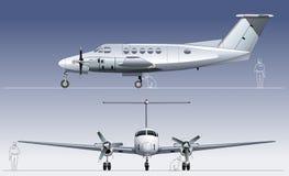 Borgerligt nytto- flygplan för vektor royaltyfri illustrationer