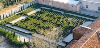 Labyrinthe de Borges à Venise Image libre de droits