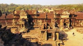 Borggård av Angor Wat, Cambodja Fotografering för Bildbyråer