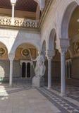 Borggård av Casa de Pilatos Seville, Spanien Arkivbild