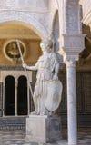 Borggård av Casa de Pilatos Seville, Spanien Arkivfoto
