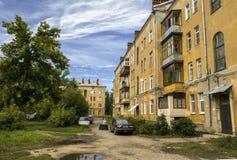 Borggård av den ryska staden Royaltyfri Fotografi
