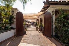 Borggård av den Tequilafabriksrestaurangen och cantinaen i gammal T Royaltyfria Bilder