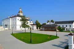 Borggård av den Tobolsk Kreml Arkivfoton
