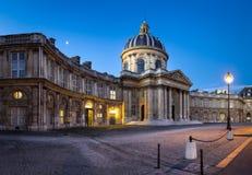 Borggård av det franska institutet på gryning, Paris, Frankrike Arkivbild