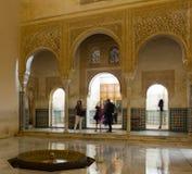 Borggård av guld- rum av Alhambra Arkivfoto