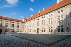 Borggård av Munich Residenz fotografering för bildbyråer