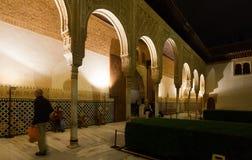 Borggård av myrterna, Alhambra granada Arkivbilder