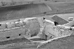 Borggård av Rupea Reps fästning, Transylvania, Rumänien Fotografering för Bildbyråer