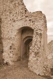 Borggård av Rupea Reps fästning, Transylvania, Rumänien Royaltyfri Fotografi