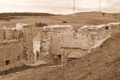 Borggård av Rupea Reps fästning, Transylvania, Rumänien Royaltyfria Bilder
