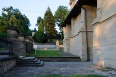 Borggård av slotten Arkivfoto
