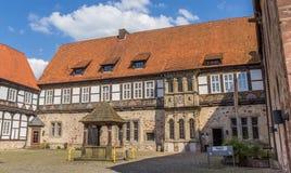 Borggård av slotten av Blomberg arkivfoto