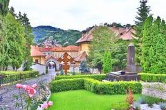 Borggård BraÈ™ov Rumänien för ortodox kyrka Royaltyfri Foto