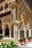 Seville Alcazar royaltyfri fotografi