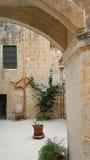 Borggård i Malta Arkivbilder