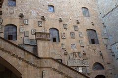 Borggård i Museoen Nazionale del Bargello Florence italy Royaltyfri Fotografi