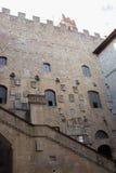 Borggård i Museoen Nazionale del Bargello Florence italy Arkivfoto