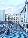 Borggård och tak i Paris Royaltyfria Foton
