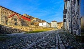 Borggård på den Fredriksten fästningen Royaltyfri Fotografi