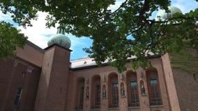 Borggården av det Stockholm stadshuset, Sverige arkivfilmer