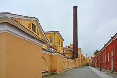 Borggården av Peter och Paul Fortress i St Petersburg, Ryssland Royaltyfri Bild