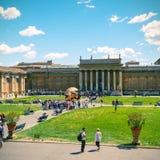 Borggården av Vaticanenmuseet, Vaticanen, Rome Arkivbilder