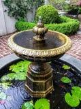 Borggårdspringbrunn royaltyfri bild