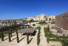 Borggård av den Umayyad kalifatslotten Royaltyfri Fotografi
