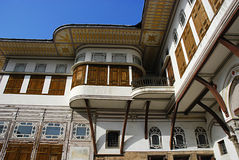 Borggård i haremmen, Topkapi slott, Istanbul Arkivfoton