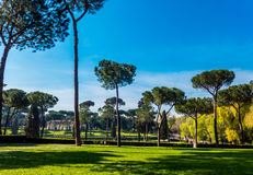 Borghese park in Rome Stock Photo