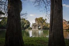 borghese villa italy rome royaltyfria foton