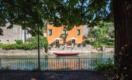 Borghetto-Dorf, Italien stockfotos