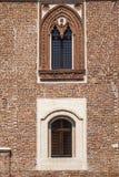 Borghetto Lodigiano Italië: het kasteel Royalty-vrije Stock Afbeelding