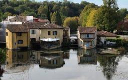 Borghetto over the Mincio, Italy. Ancient Village upon the Mincio river in Borghetto, Verona, Italy Stock Image