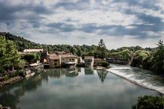 Borghetto Sul Mincio, Italy. The beautiful village Borghetto Sul Mincio, Italy Royalty Free Stock Photo
