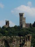 Borghetto Sul Mincio 1. Medieval castle and gate at Borghetto sul Mincio, Italy Stock Photography