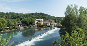 Borghetto sul Mincio panoramic Stock Photos