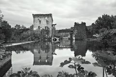 Borghetto sul mincio. Small village on river in Italy Royalty Free Stock Photo