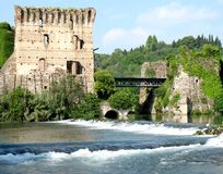 Borghetto village. Valeggio sul Mincio, Italy Stock Images