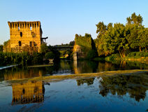 Borghetto village fort Royalty Free Stock Image