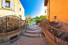Borghetto village on Mincio river watermills view. Veneto region of Italy Royalty Free Stock Images