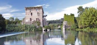 Borghetto village .Valeggio sul Mincio, Italy Stock Images
