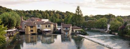 Borghetto wioska Valeggio sul Mincio, Włochy Obrazy Royalty Free