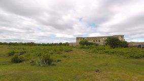 Borghollm外面城堡废墟 股票录像