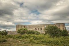 Borgholm城堡废墟01 库存图片