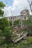 Borgholm castle ruin from the back Royalty Free Stock Photo