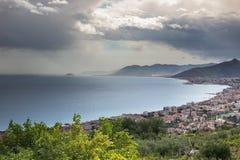 Borgio, Liguria krajobraz Obrazy Royalty Free