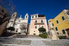 Borgio Verezzi, Savona, Itália, riviera ligurian, cidade center Imagem de Stock Royalty Free