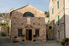 Borgio Verezzi. Is an unique village in Liguria, Italy royalty free stock photos